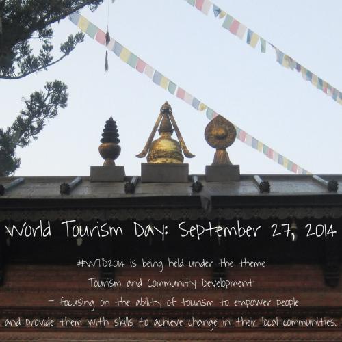 World Tourism Day 2014 Logo World Tourism Day September